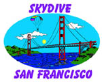 skydiving in SF California